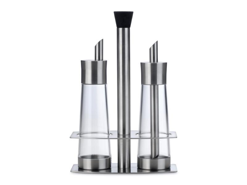 "Orion 9"" 3Pc Stainless Steel Cream & Sugar Set"
