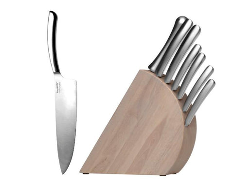 Concavo 8Pc Stainless Steel Knife Set with Block