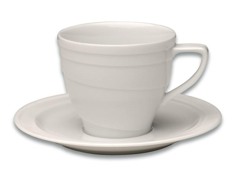 Eclipse 6oz Porcelain Coffee Cup & Saucer