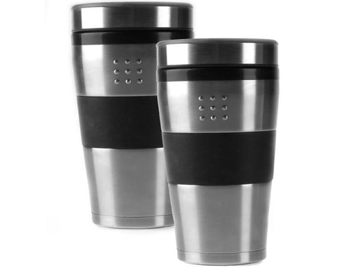 Set of 2 16oz Stainless Steel Orion Travel Mugs