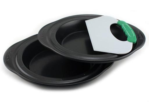 Perfect Slice 3Pc Pie Pans with Slicing Tool