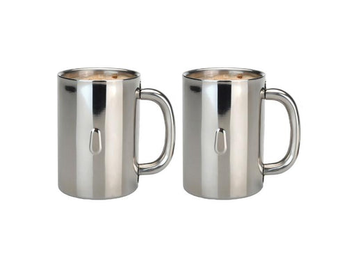 Straight 12oz Stainless Steel Coffee Mug, Set of 2