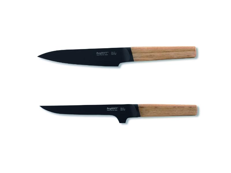 "Ron 2Pc Cutlery Set: 5"" Chef's & 6"" Boning, Natural"