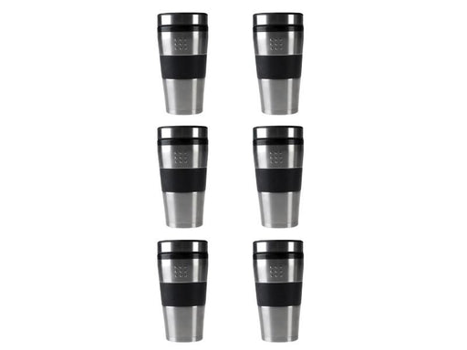 Orion 16oz Stainless Steel Travel Mug, Set of 6