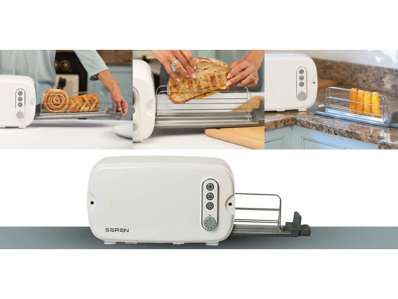 Seren Side Loading Toaster with White/Cream Panel