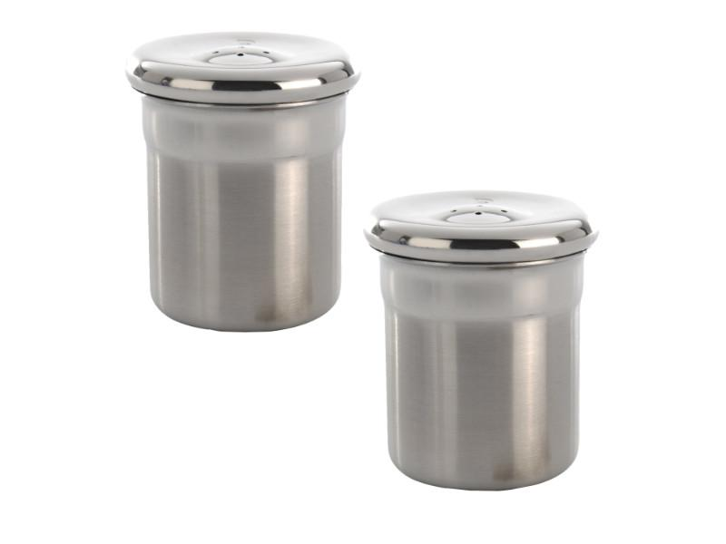 Essentials 2Pc Stainless Steel Salt & Pepper Set