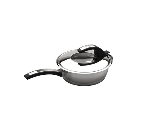 "BergHOFF Virgo 18/10 SS Covered Deep Skillet, 10"",  2.7 Qt"