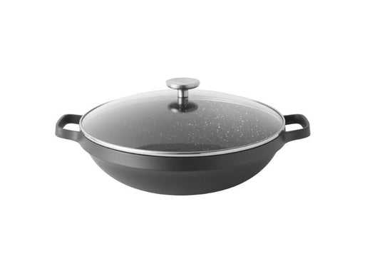 "GEM  12.5"" Non-Stick  12.5"" Covered Chinese Wok 5.7Qt"