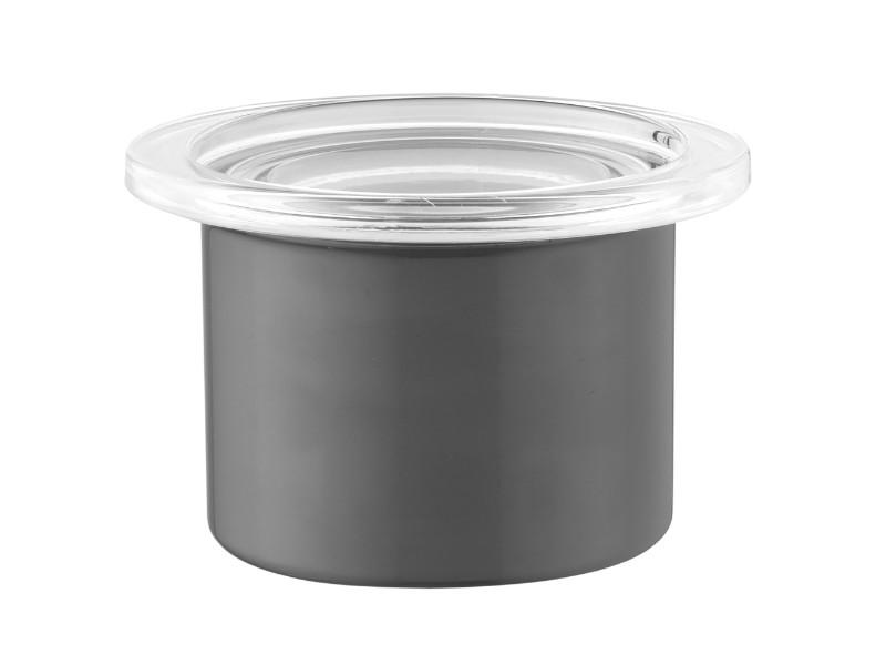 "Eclipse 4"" Stainless Steel Canister 0.52Qt"