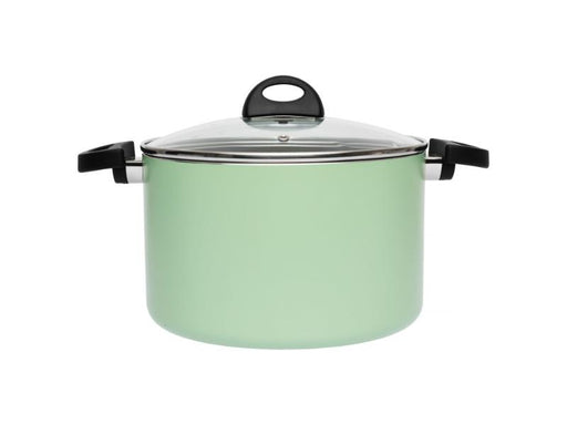"Eclipse  10"" Non-Stick Covered Stock Pot 7Qt, Green"