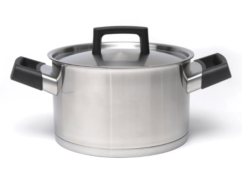 "Ron 8"" Stainless Steel Covered Casserole"