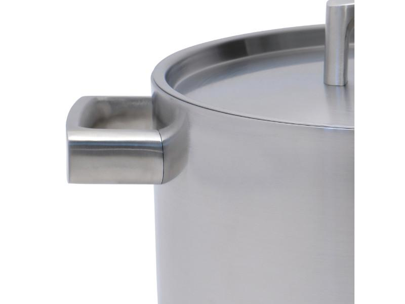 "Ron 10"" Stainless Steel 5-Ply Covered Stockpot"