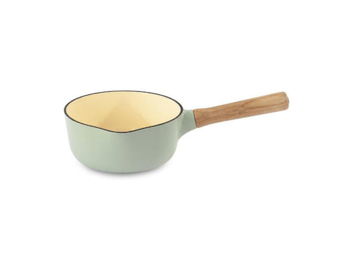 "Ron 7"" Cast Iron Saucepan 1.8Qt, Green"