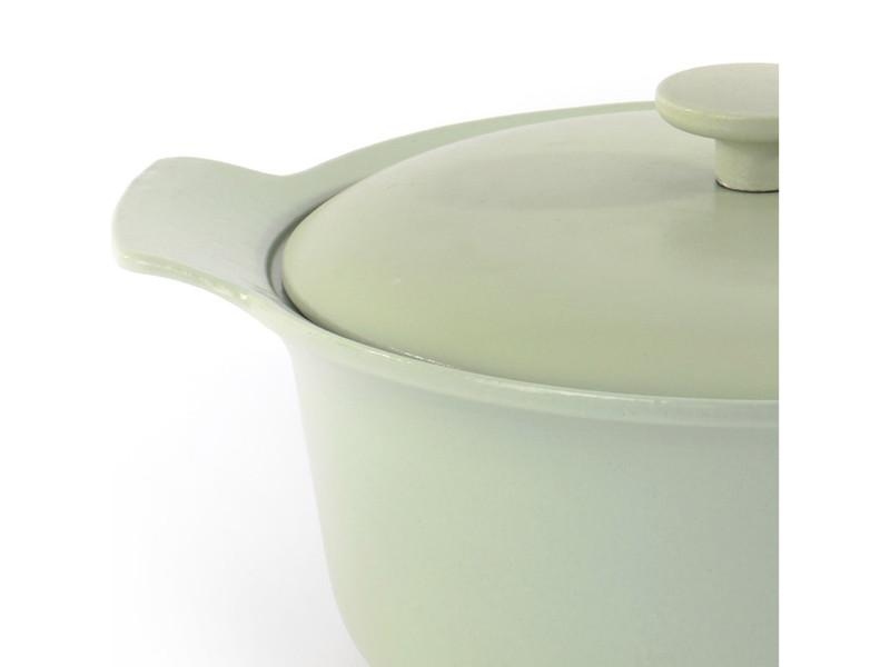 "Ron 10""  Cast Iron Covered Stockpot 4.4Qt, Green"