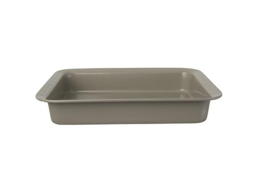 "Leo 12.5"" Carbon Steel Rectangular Cake Pan, Gray"