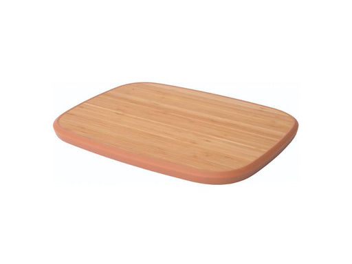 "Leo 14.5""  Bamboo Cutting Board Anti-Slip, Pink"