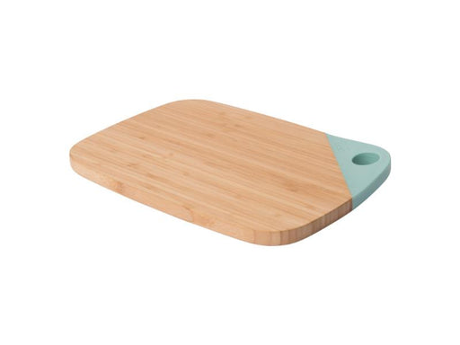 "Leo 11"" Bamboo Cutting Board, Mint"