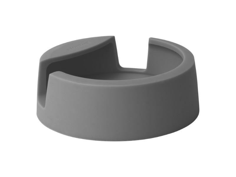 "Leo 5"" Silicone Spoon Rest, Gray"