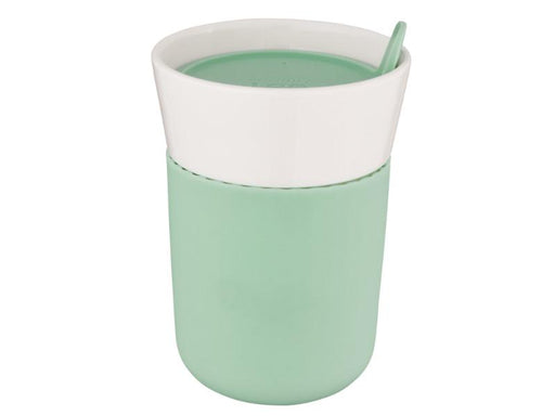 Leo 11.16oz Porcelain Travel Mug, Green