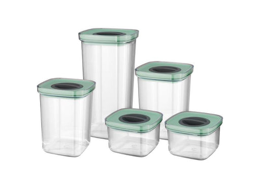 Leo 5Pc Smart Seal Food Container Set, Green