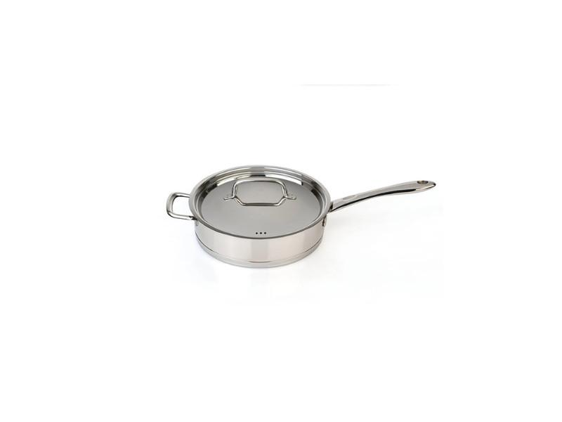 "CollectNCook 11"" Stainless Steel Covered Deep Skillet"