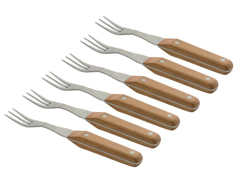 CollectNCook Stainless Steel Steak Fork, Set of 6