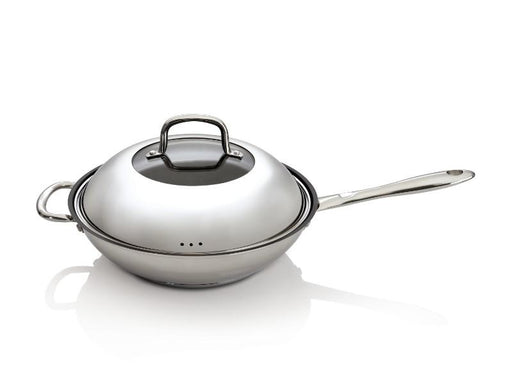 "CollectNCook 11""  Stainless Steel Non-Stick Covered Wok"