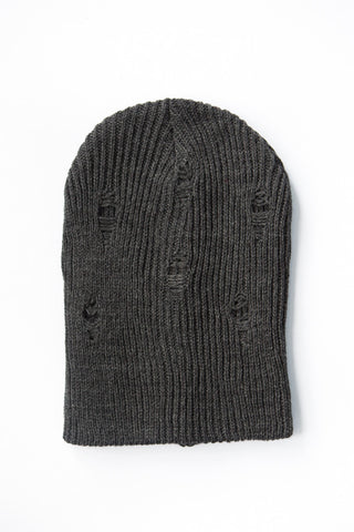 Distressed Charcoal Beanie