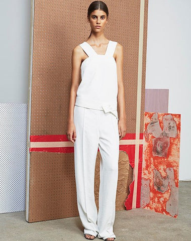 Derek Lam 10 Crosby long full trouser white