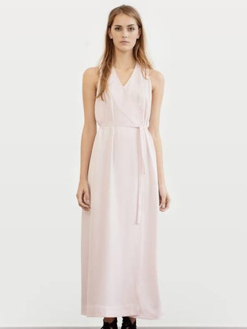 Rodebjer pale pink halterneck dress in luxurious Japanese Twill fabric