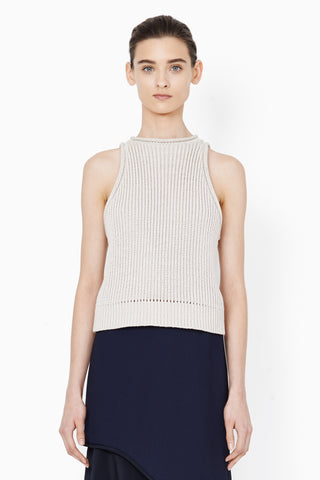 3.1 Phillip Lim Nude Ribbed Sleeveless Shell