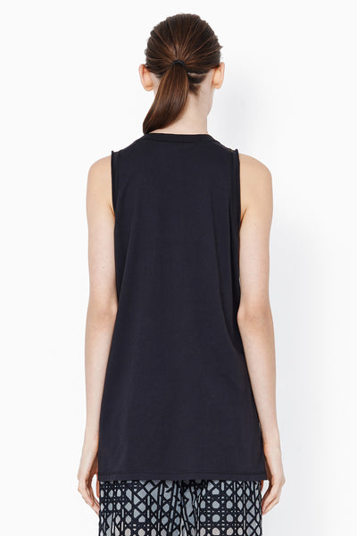 3.1 Phillip Lim Cut In Tank with Abstract Fern Print