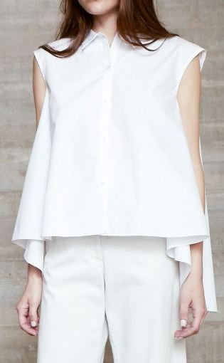 Rachel Comey Button Up Poise Top White