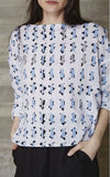 Rachel Comey Barter Top White and Blue