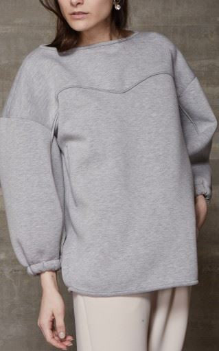 Rachel Comey heather greay oversized pullover sweatshirt top