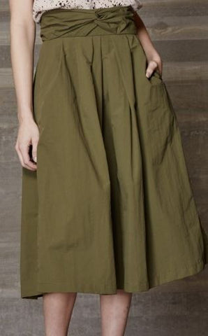 Rachel Comey pleated nylon skirt with pockets sits above the knees