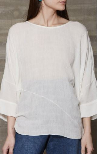 Rachel Comey off-white rayon oversize blouse with dolman sleeves