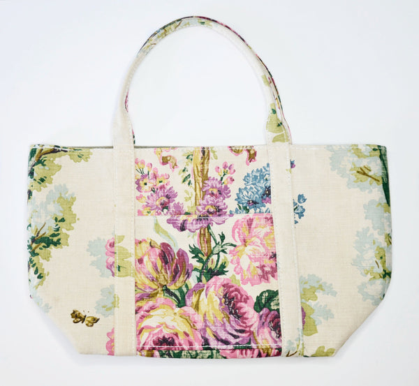 Totem Salvaged 1920s floral tote