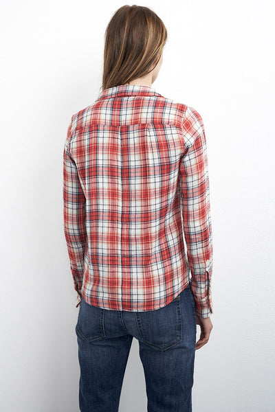 Velvet by Graham & Spencer Ama Plaid Shirt