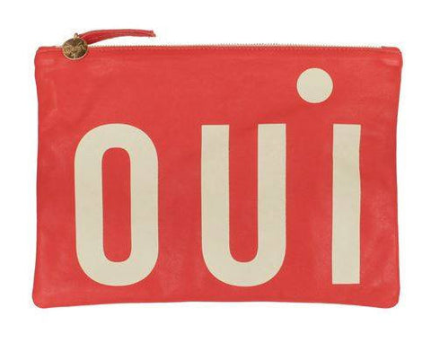 Clare Vivier Flat Clutch Red