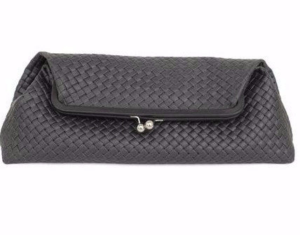 Clare Vivier Pierre Clutch Basketweave Black