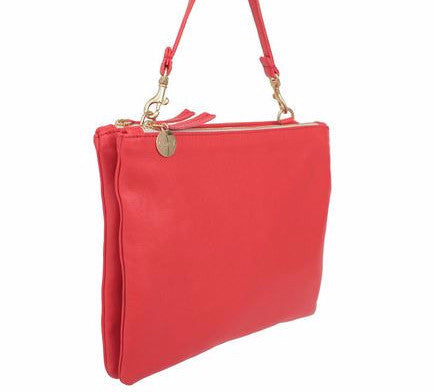 Clare Vivier Double Sac Bretelle Bag Red
