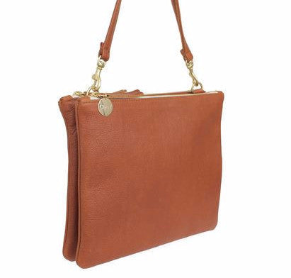 Clare Vivier Double Sac Bretelle Handbag Tan