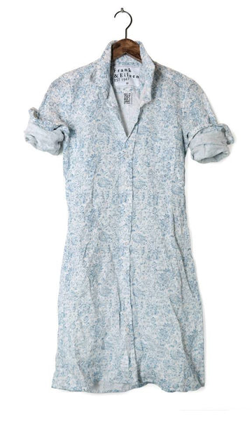 Frank and Eileen Murphy Shirtdress blue and white
