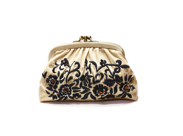 Megan Park Empress Double Snap Purse with Chain Strap