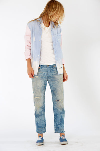 NSF Clothing Axel Shirt Chambray and pink
