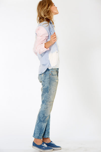 NSF Axel Chambray and Pink Shirt