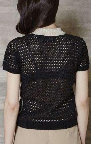 Rachel Comey Decorative Crochet Polo Top