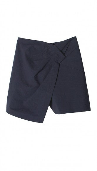 Tibi Seersucker Twisted Skort