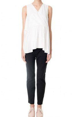 Tibi Twisted Yoke Long Top